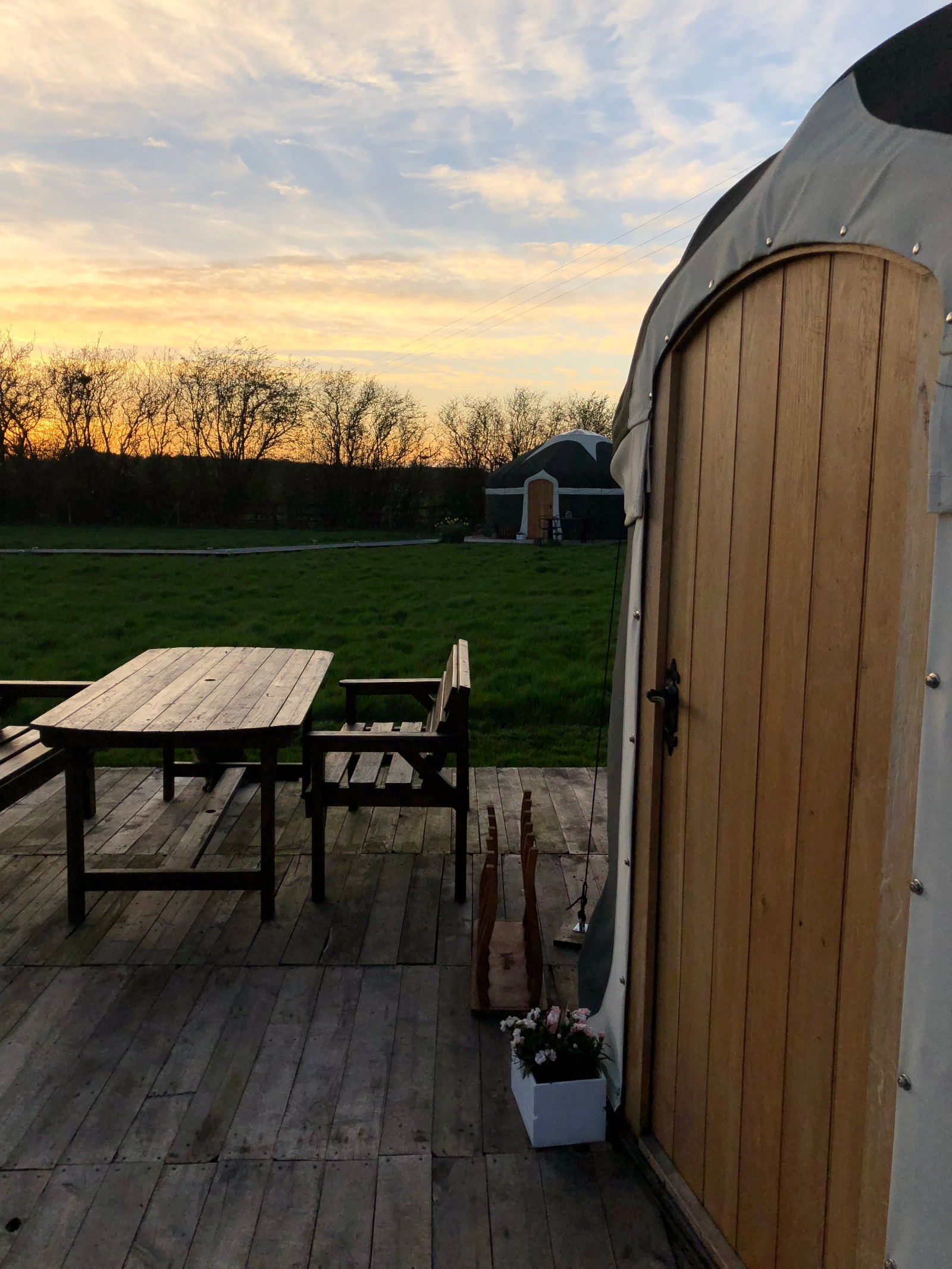 Sunsets and yurts