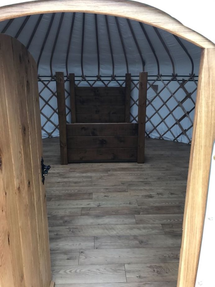 Peeking into our first Yurt
